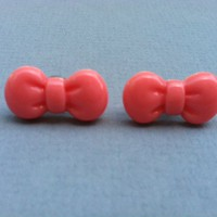 Pink Bow Earrings on Luulla