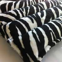 Heating Pad  Snuggles Microwavable Heating Pad  Large Lumbar Soft Plush Zebra Print