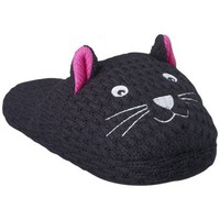 Women's Carol Kitty Slipper - Black