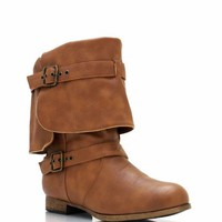 buckled-boots BLACK COGNAC - GoJane.com