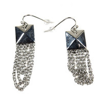 Stud and Chains Dangle Earrings