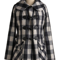 Classified Plaid Coat | Mod Retro Vintage Coats | ModCloth.com