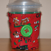 Insulated Eco-Friendly Reusable Handmade COFFEE CUP Noel Christmas Gift