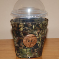 Insulated Eco-Friendly Reusable Handmade COFFEE CUP Camo Hunting Christmas Gift