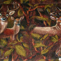 "Pet Blanket Mat Seat Cover Car Dog or Cat Camo Deer Print 23.5"" x 54"" Reversible"
