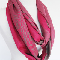 Pink Organic Cotton Scarf, Infinity Scarf, Loop Scarf, Christmas Gift