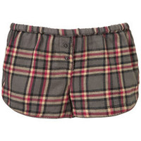 Woven Check PJ Shorts - Lingerie &amp; Nightwear