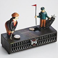 vintage style golfer coin bank from RedEnvelope.com