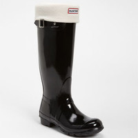 Hunter Tall Gloss Rain Boot & Fleece Welly Socks | Nordstrom