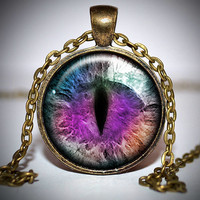 Purple Dragon Eye Pendant - Dragon eye necklace - dragon eye jewelry