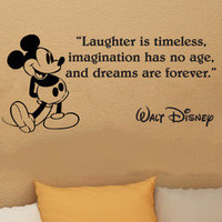 Disney Mickey Mouse Laughter Is Timeless wall quote vinyl wall decal sticker 16