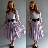 1950s jonathan logan party dress / Lavender Lace by coralvintage