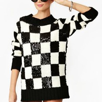 In Check Sequin Knit