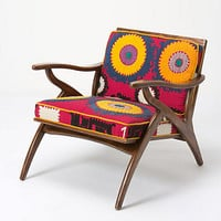 Inge Chair, Vintage Suzani