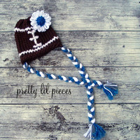 MADE TO ORDER Football hat with team colors for by prettylilpieces
