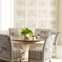 "Key City Furniture - ""Brannon"" Pedestal Dining Table and ""Viola"" Chair & Banquette - Horchow"