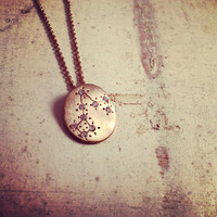 Hand Made Pisces Zodiac Sign Constellation Necklace Gold Pisces Constellation necklace Pisces Star Sign Charm Zodiac Charm Small Charm