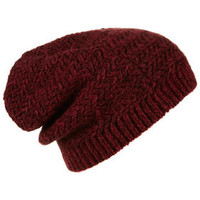 Two Tone Zigzag Beanie - Hats  - Accessories