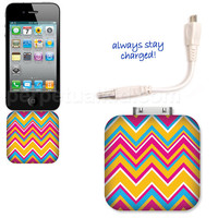 CHEVRON POWER MATE PLUS PHONE CHARGER, backup, battery, purse, unique, stocking stuffer