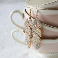 Treasured Feathers Earrings, Sweet Affordable Jewelry