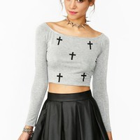 Cross My Heart Crop Top