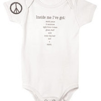 Inside Me Organic Cotton Baby Snapsuit