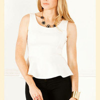 Salt & Peplum Ponte Top