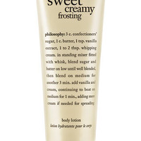 philosophy 'sweet creamy frosting' body lotion | Nordstrom