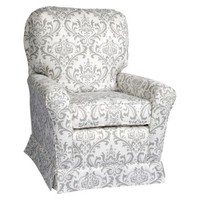 Little Castle Swivel Glider - The Linen Bordeaux Collection