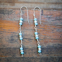 Turquoise Bead Sterling Silver Earrings