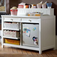 Beadboard Snack Bar Console + Hutch | PBteen