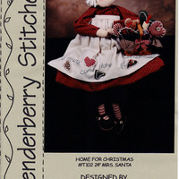 Craft Mrs Santa Pattern: Home for Christmas - Tenderberry Stitches.