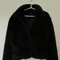 1990s black fur coat