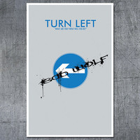 Doctor Who Poster: Turn Left - 11x17 Science Fiction Art Print