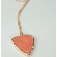 &quot;Sienna&quot; Stone Arrowhead Necklace - New Arrivals | Sugar and Sequins