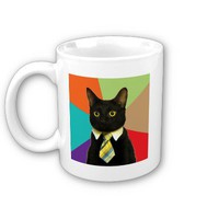 Business Cat Advice Animal Meme Coffee Mug from Zazzle