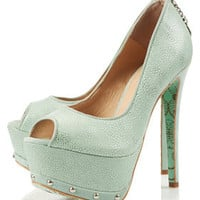 **CJG Peeptoe Platform Courts by CJG - Heels  - Shoes