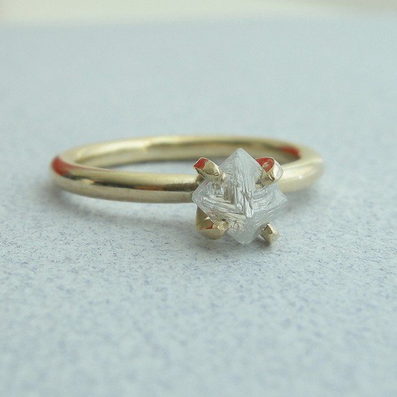 Rough Diamond Ring by PSodhi on Etsy
