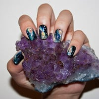 .: Galaxy Nail Art on we heart it / visual bookmark #16190021