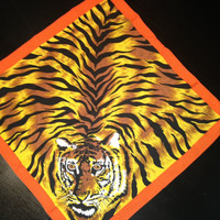 "Colorful Tiger Bandana / Scarf 20""x20"""