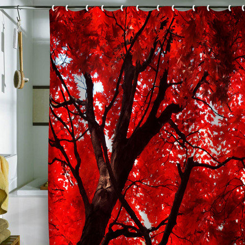 happee monkee red canopy shower curtain from deny designs