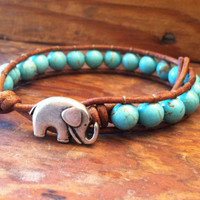 CHRISTMAS SALE Elephant Leather Wr.. on Luulla