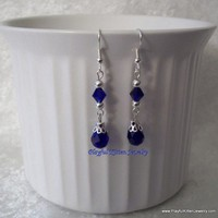 Blue Winter Evening Earrings
