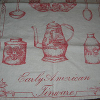Vintage Luther Travis Linen Tea Towel Early by shamrockgardens