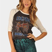 ACDC World Tour Junk Food Tee - Black at Necessary Clothing