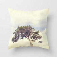 Tree and Sky Throw Pillow by Erin Johnson | Society6