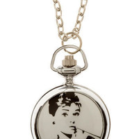 Fashionably Late Pocket Watch Necklace | Mod Retro Vintage Necklaces | ModCloth.com