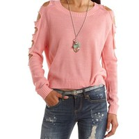Slashed Sleeve Pullover Sweater: Charlotte Russe