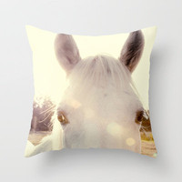 Sunshine horse Throw Pillow by Erin Johnson | Society6