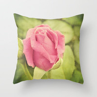 Pink Rose Throw Pillow by Erin Johnson | Society6